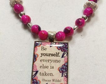 Necklace, Pendent, Hot Pink, One of a kind,  Make A  Statement ! Graduation gift, for a favorite friend,just because gift