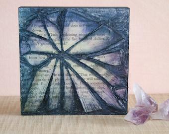 Midnight Flower - Cut Glass Mosaic Art