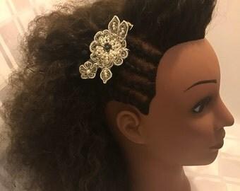Flower Single Prong Hair Clip