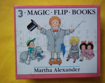 MAGIC FLIP BOOKS (Mini, 3 in Slipcase), by Martha Alexander