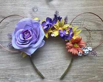 Tangled Wire Floral Ears