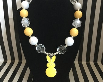 Easter Bunny Chunky Necklace