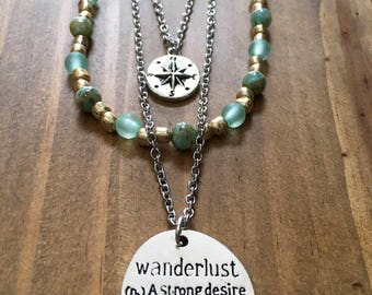 Wanderlust multistrand tiered necklace