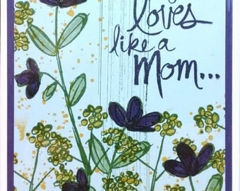 Mothers Day Card, Handmade Card, Stampin Up Mothers Day Card, Greeting Card, Floral Card, Card For Mom