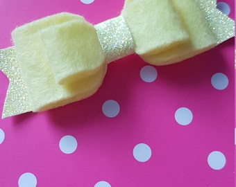 Yellow felt bow