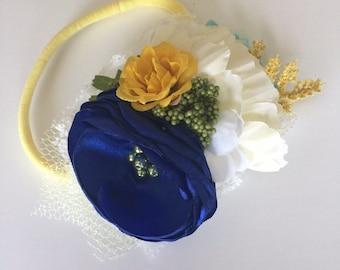 Floral headband; spring floral headband M2M MJ, baby headband