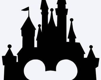 Castle With Mickey's Head Cutout
