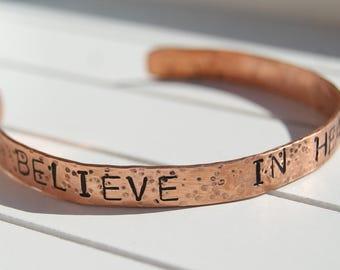 pure copper stacking bangle bracelet.