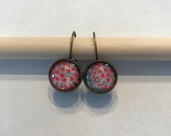 Earring earrings earring fashion 12 mm glass cabochon glass