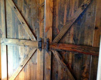 Custom made rustic barn doors
