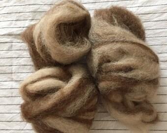 Shetland & Alpaca Roving - Tweed 50/50
