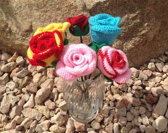 Bouquet Crochet Roses
