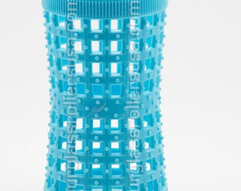Blue HOURGLASS HAIR ROLLERS 37mm/1.46in  – Pack of 12