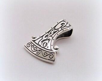 Perun's Axe Pendant, Axe of Perun, Sterling Silver Pendant, Axe Silver