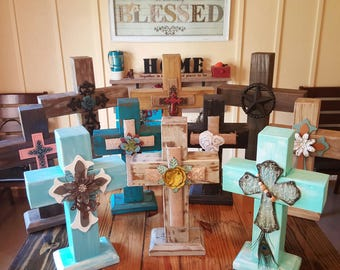 Hand Crafted Solid Wood Crosses Made To Order