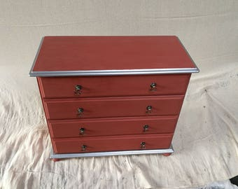 REDUCED   Vintage Pine Four Drawer Chest of Drawers  REDUCED