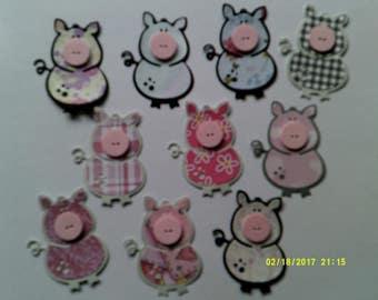 Die Cut Piggies
