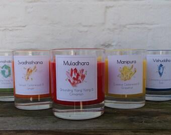 Full Chakra Soy Candle Set