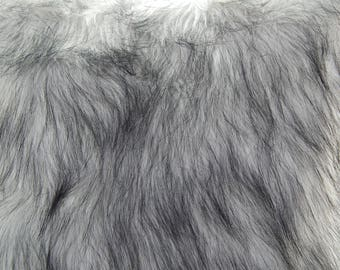 "Grey Faux Fur 12.5 x21"", Making Animal Fur, Newborn Photo Prop, Faux Fur Craft, Faux Fur Fabric Prop"