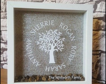 Family tree personalised frame. Mother's Day gift.