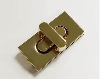 2pcs 36*17MM gold Purse lock gold twist purse turn lock clutch clock Turn Lock Fastner,Purse bag handbag Latch hardware