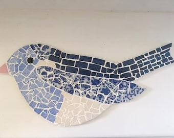 Mosaic Blue Bird blue bird mosaic