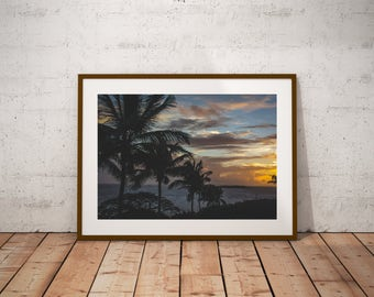 Sunset Art - Wall Art - Puerto Rico Sunset - Photography - Sea Photo - Coastal Art -  Beach Photography
