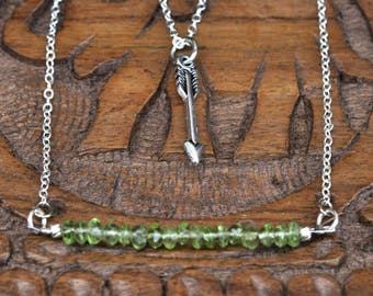 Arrow Peridot Dream Necklace