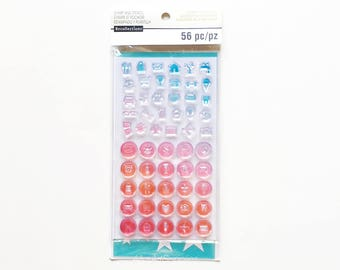 Clear Rubber Stamps / Stencil for Planners and Scrapbooking, Recollections Brand