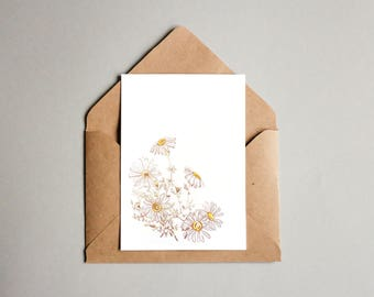 A6 Botany Greeting Card - Chamomile