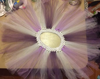 Purple and White Tutu