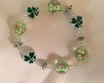 St.Patricks Day Beaded Bracelet
