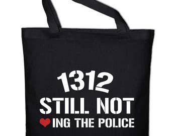 1312 emergency still loving the police tote bags cotton bag