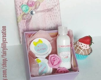 Body Butter and Cream Gift Set Homemade Long Lasting Scent