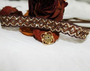 Vintage Soft Choker Autumn Queen Gold Elegant Jewel Gothic Lady Necklace