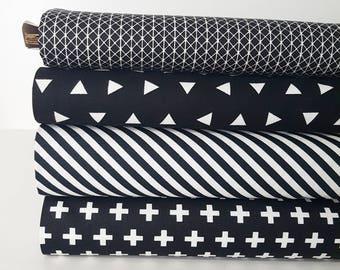 Black Fat Quarter Bundle // Basics // Quilters Cotton // Fat Quarter //