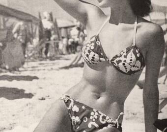 Beach Beauty Vintage Photo Print