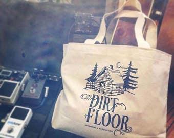 Dirt Floor Canvas shopping bag