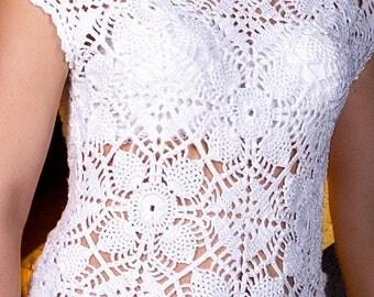 Knit blouse Crochet blouse Lace blouse Lace coverup Viscose top Summer jacket Beige top Boho blouse Lace knit top Boho top Lace boho top