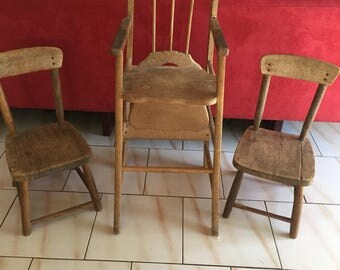 Child chair and stools