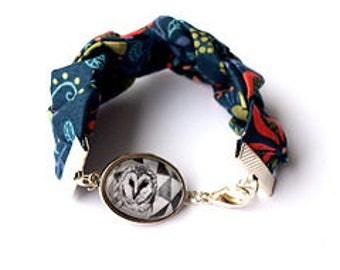 Mrs Gray Owl bracelet