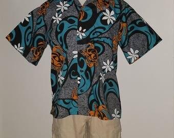 Island Tribal with Honu's Aloha Style Shirt