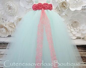 40% OFF ALL ORDERS-Mint Flower Girl Tutu Dress-Mint Tutu Dress-Mint Girl Tutu-Mint Baby Tutu-Mint Wedding Tutu.Mint Wedding Dress.Mint dress