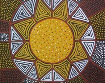 Aboriginal Art: Kulama design from the Tiwi Islands, Australia