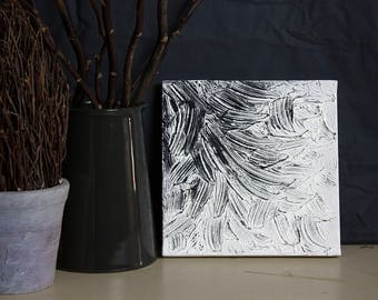 White Oil Charcoal Painting