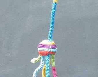 Beaded wire Giraffe - African wire bead animal
