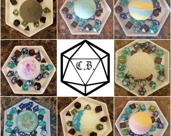 Critical Role Inspired Bath Bombs! Character Inspired Scents With Mystery Die Inside