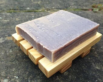 Natural Lavender Soap with Lavender Essential Oil and Organic Shea Butter and Coconut Oil