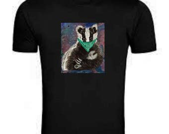 Stop the badger cull! A Badger holding a wrench T shirt