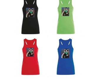 Stop the Cull, animal liberation, save the badgers racer back vest top